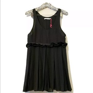 See By Chloe Pleated Babydoll Black Dress 4 US/40